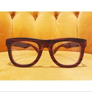 Faux Wood Grain Framed Glasses